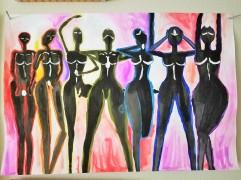 """Chakra Muses. 13"""" x 11"""". $25.00"""